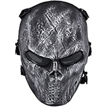 Coofit® cranio del fantasma di Airsoft Paintball completa maschera di protezione militare argento costume di