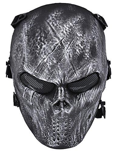 Airsoft Maske, Coofit Ghost Skull Softair Schutzmaske Paintball Maske Totenkopf Halloween Maske
