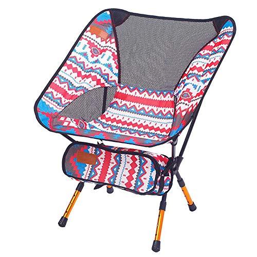 zhbotaolang Portable Ajustable Pliant Chaise - Ultra Léger Plein Air Sport Camping Tabouret Randonnée Pêche Pique-Nique Plage Barbecue Détendre Siège Rouge