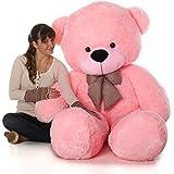 jiokard Stuffed Spongy Teddy Bear (4 Feet, Pink)