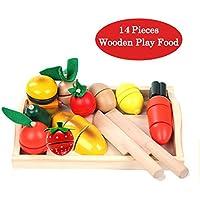 De madera para cortar verduras comida comida comida cocina 13 pcs set de aprendizaje