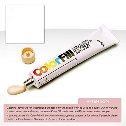 ColorFill Blanc Polaire UNIKA Plan de Travail Joint d'étanchéité et Réparateur Cf070