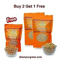 Dhampur Green Gur Saunff 200g (Pack of 2) Free Gur Chana
