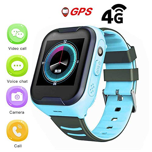Montre GPS Pour Enfants,IPX7 Etanche 4G Enfants Montre Intelligente GPS Pour IOS Android,avec Chat Vocal Vidéo Paiement SOS Réveil Avec Caméra,Tracker GPS/LBS,Montre 680MAH GPS Tracker Pour Garçons.