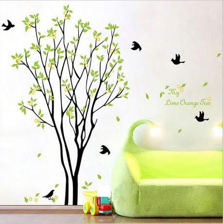 Frische Wand mit Zitronenbaum kann Tapeten, Wohnzimmer, TV-Wand, einfache Schlafzimmerwand, Wanddekoration und Malerei entfernen