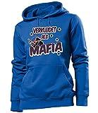 love-all-my-shirts Verkleidet ALS Mafia 4906 Karneval Kostüm Faschingskostüm Damen Hoodie Blau XL