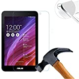 Lusee 2 x Pack Panzerglasfolie Schutzfolie für ASUS MEMO PAD 7 ME176CX 7.0 Zoll Bildschirmschutz Tempered Glass Folie Screen Protector Panzerfolie Glasfolie 0,3 mm 9H Clear 2.5D