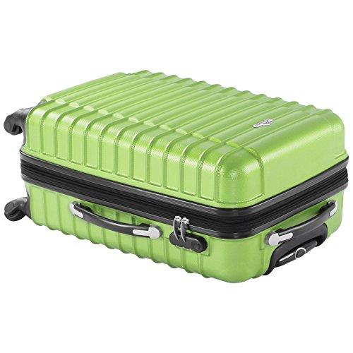 Vojagor 4 tlg. Trolley Koffer Hartschalen Set - Reisekoffer mit 4 Rollen 360°, S,M,L,XL (ineinander stapelbar) Farbwahl - 6