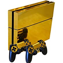 Vococal-Etiqueta Engomada de la piel / Protector de Calcomanía de Vinilo para la Sony Playstation 4 PS4 y Dos Controlador(Dorado)