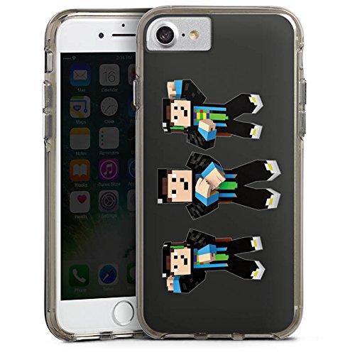 Apple iPhone X Silikon Hülle Case Schutzhülle GommeHD Fanartikel Merchandise Gomme Style Bumper Case transparent grau