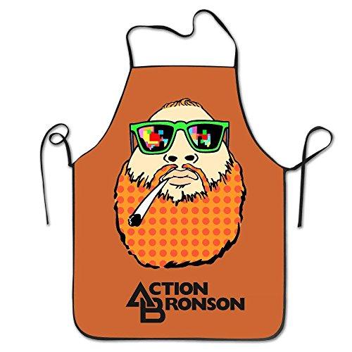 LarissaHi Damenschürze - Action Bronson Küchen- und Kochschürze, Durable Stripe Zum Kochen, Grillen und Backen