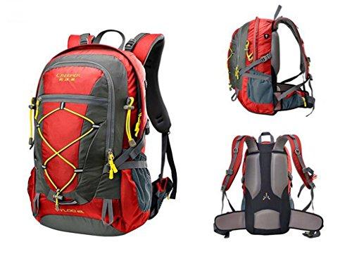 Bergsteigen Taschen Outdoor-Rucksack Ultraleicht -40L Radfahren Reise Rucksack Rot