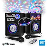 Karaoke-Set für Kinder, 100 W, LED, RGB – Magic Ball – USB/Bluetooth/SD + 2 Mikrofone + Fernbedienung – MyDJ MY1STKARAOKE-v4 + Ufo-Spiel Ovni