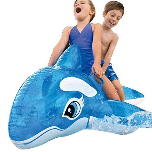 Schwimmen & Baden Schwimmring Blauwal Schwimmende Reihe Wasser Aufblasbare Schwimmende Bett Wasser Aufblasbare Lounge Stuhl SchwimmenLuftkissen Schwimmbad Spielzeug Sonnenliege Lastkapazität 70kg