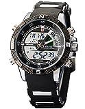 Shark Dual LCD Digital Armbanduhr Herrenuhr Quarzuhr Sportuhr Datum Uhr Watch SH042