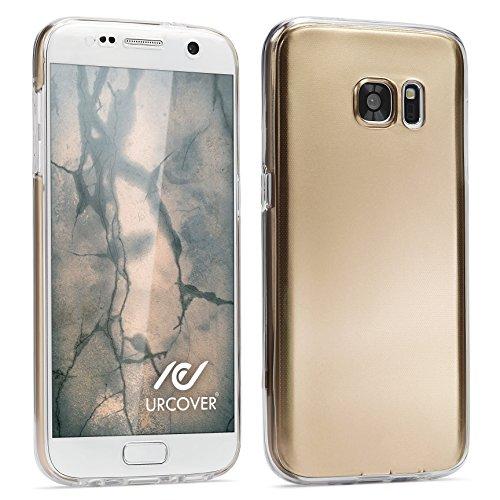 Urcover® Metalloptik Ultra Slim 360 Grad Edition | Apple iPhone 7 Plus / 8 Plus | TPU in Lila | Zubehör Tasche Case Handy-Cover Schutz-Hülle Schale Gold