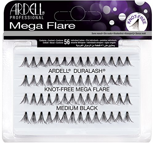 Ardell Mega Flare - Knot-Free - Medium Black