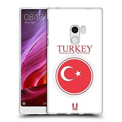 Head Case Designs Fahne Der Türkei Fahne Flicken 2 Soft Gel Hülle für Xiaomi Mi Mix