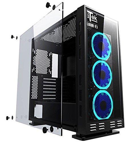 """EMCA4 PC-Gaming Intel Core i5-8600K 6x 4.30GHz • Nvidia GTX1060 • 32 GB DDR4 • 250GB SSD • 1TB HDD • LICENZA Windows 10 • WiFi + Monitor 24"""" Samsung pc da gaming fisso desktop pc assemblato completo"""