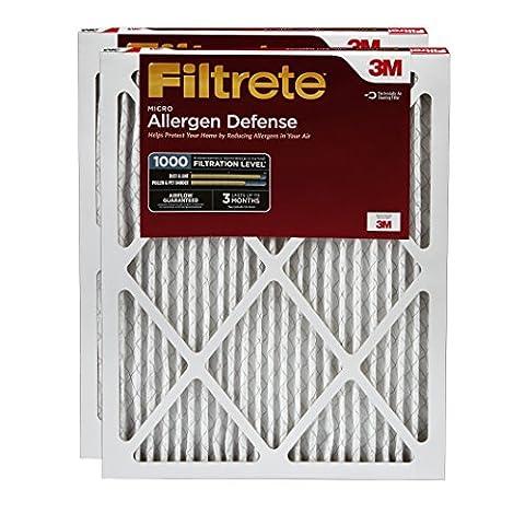 Filtrete Micro Allergen Defense Filter, MPR 1000, 12 x 24 x 1-Inches, 2-Pack