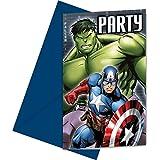 6 tarjetas de invitación Los Vengadores? - Única