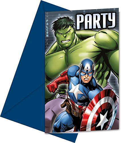 Marvel Avengers Assemble Party Einladungen, 6 Stück (Marvels Avengers Party Supplies)
