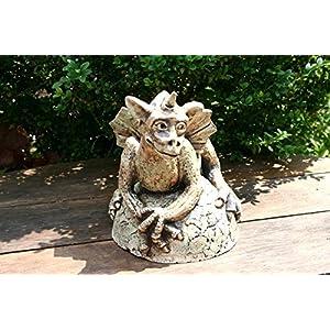 Großer Keramik Drache, Gargoyle, Gartenwächter