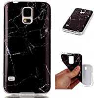 Lomogo [Marble Pattern] Galaxy S5 Case Shockproof Anti-Scratch Silicone Case Cover for Samsung Galaxy S5 (Colour #4)