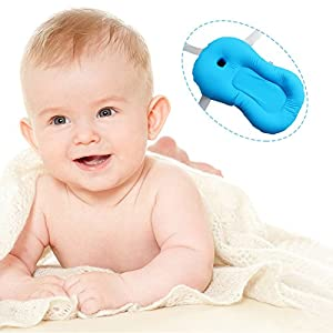 baby bath pillow cushion soft tub support pad for newborn anti-slip seat with belts portable non slip shower travel toddler kid cosy swimming beach pool game play bathtub non-slip bed mat cartoon piglet bathing showering holder fixed comfortable