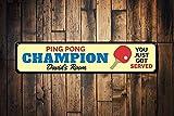 Dozili Ping Pong Champion Panneau personnalisé Kid Nom Sign personnalisés Vous...