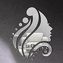 Cloud-Castle Adesivo per parete rimovibile, Acrilico, Donna, Faccia laterale specchio, decalcomania da parete, Adesivi da parete