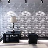 Panel Decorativo 3D LAKE para paredes interiores, 100% ecológico fabricado con bambú, 12 PANELES...
