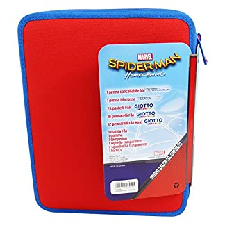 Seven DC Comics Spiderman Home Coming Estuche Maxi Escolar con Dos Cremalleras Làpices de colores