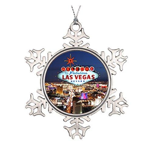 (Las Vegas Geschenke Runde Keramik Weihnachten Ornament)