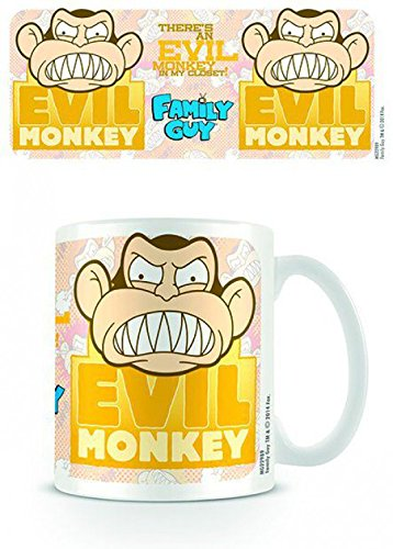Set: I Griffin, Monkey Tazza Da Caffè Mug (9x8 cm) E 1 Sticker Sorpresa 1art1®