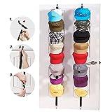 guang-t Cap rack, cappello e borsa rack organizer per berretti da baseball–Cappello rack Storage, ragazzo o donna cappello collezioni–può contenere fino a 16tappi per cappelli di baseball (confezione da 2)–nero