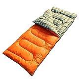 Sleeping Bag-LL Schlafsack, Daunen Baumwolle Herbst und Winter Warm Warm Adult Indoor Outdoor Office (Farbe : Orange)