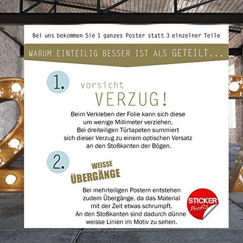 Türtapete selbstklebend TürPoster – ORCHIDEE & WASSER – Fototapete Türfolie Poster Tapete - 8