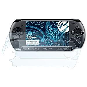 Bruni Schutzfolie kompatibel mit Sony PSP-1000 Full Folie, glasklare Displayschutzfolie (2X)