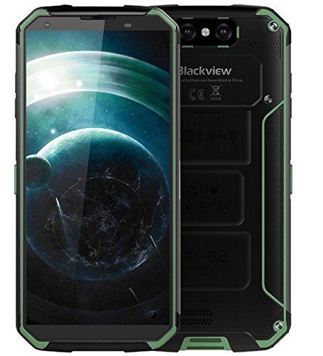 """Blackview BV9500 - Bateria 10000 mAh IP68 / IP69K prova d'água / à prova de choque / Poeira Android Smartphone 8.1, FHD tela + de 5,7 """"(18: 9), Octa Núcleo 2,5 4 GHz GB + 64 GB, carga rápida 12V / 2A (mídia sem fio suportado ), Câmera traseira 16 MP, GPS / NFC / Fingerprint - verde"""