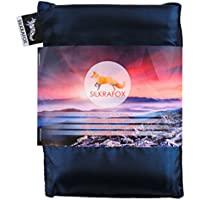 Silkrafox ultralight sleeping bag liner, artificial silk inlett, perfect for hiking, backpacking, outdoor activities