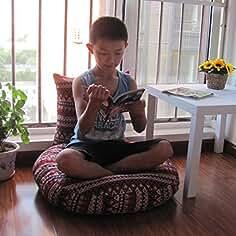 EEvER Colchón cómodo colchón Colchonetas Redondas de Tatami Futon, cojín japonés para Almohadas de Piso