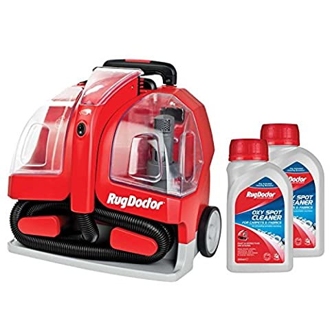 Tapis Doctor 1.9L Portable spot Red Carpet Cleaner avec spot 2x 250ml Solution de nettoyage