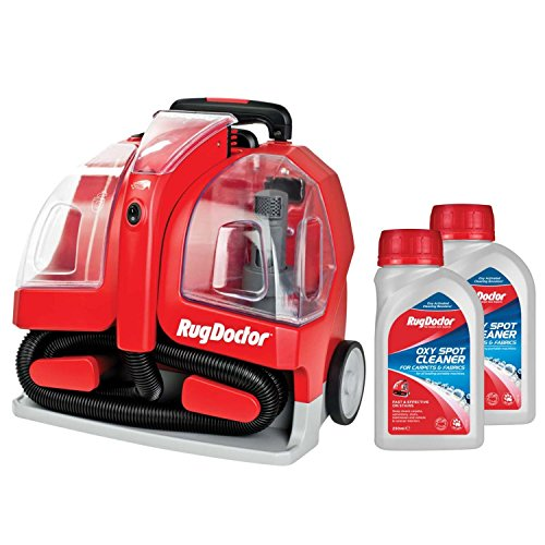 Rug Doctor 1.9L Portable Spot Red Carpet Cleaner with 2 x 250ml Spot Cleaning Solution