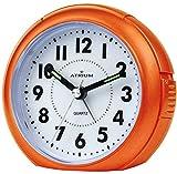 ATRIUM Wecker analog orange ohne Ticken, mit Licht und Snooze A240-9