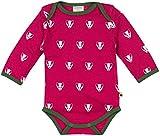 loud + proud Unisex Baby Body Woll-Anteil, Druck, Violett (Berry Ber), 68 (Herstellergröße: 62/68)