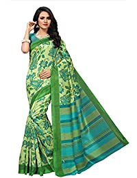 Fabwomen Sarees Kalamkari Multicolor And Green Coloured Kashmiri Silk Fashion Party Wear Women's Saree/Sari With...