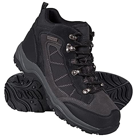 Mountain Warehouse Explorer Waterproof Womens Boots - Waterproof & Breathable IsoDry Membrane with Cushioned Footbed Mesh Lining & Heel & Toe Bumpers - Suitable for Hikes Charcoal 5.5 UK