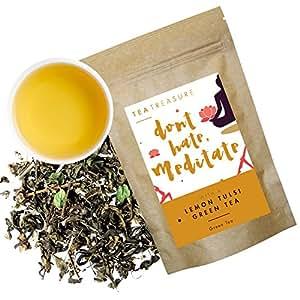 Tea Treasure Lemon Tulsi Whole Leaf Green Tea - 50 Gm