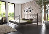 SAM® Metallbett 140x200 cm Ivrea, Bettgestell schwarz, filigrane Verzierungen, Blickfang für Gästezimmer Schlafzimmer